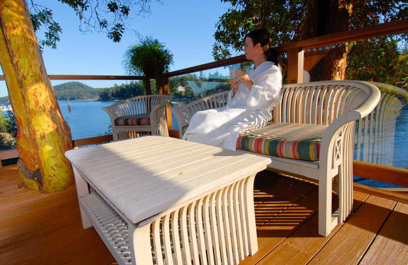 Relaxing at Galiano Oceanfront Inn and Spa.