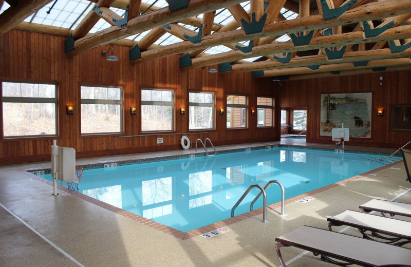 Indoor pool at Big Sandy Lodge & Resort.