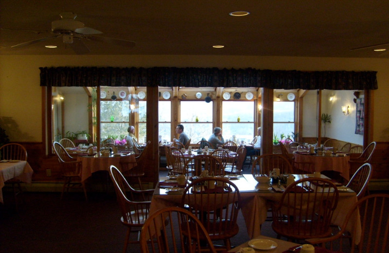 Dining at Cascades Lodge.