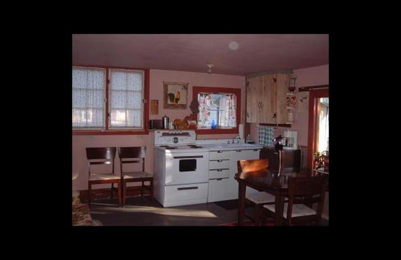 Cottage kitchen at Sandhill Cottages.