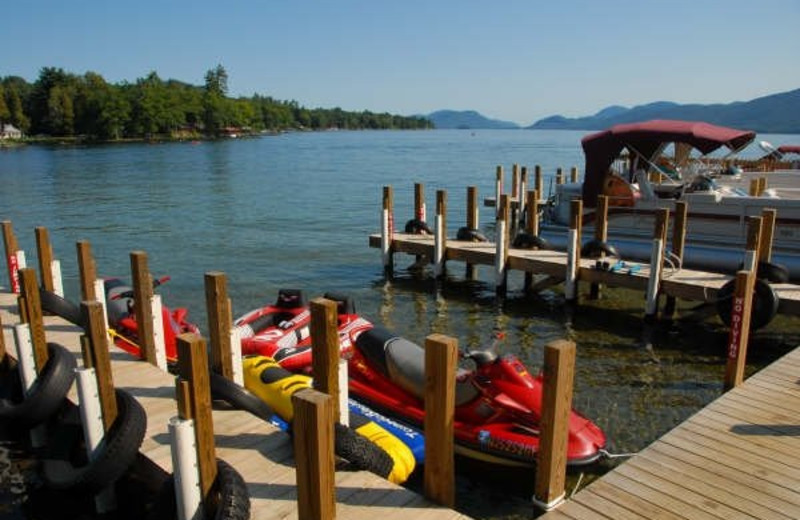 Water activities at Diamond Cove Cottages.