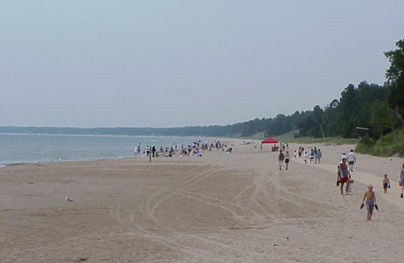 The beach at Edgewater Resort.