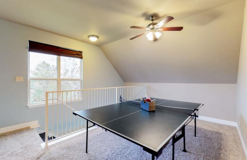 Rental ping pong table at Still Waters Vacation Home.