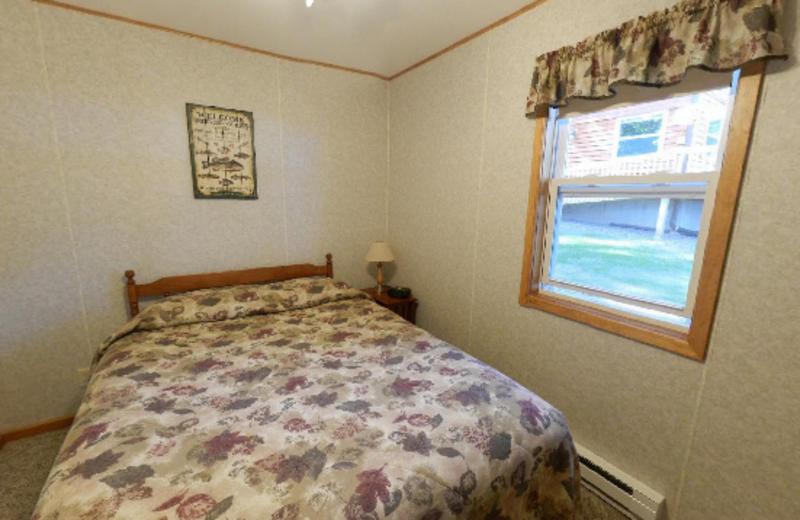 Cabin Bedroom at Janetski's Big Chatec Resort