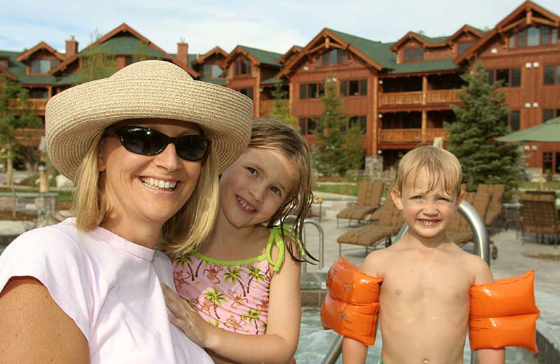 Family at The Whiteface Lodge.