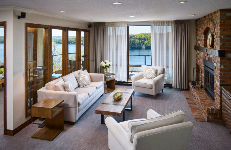 Guest living room at Deerstalker Resort.