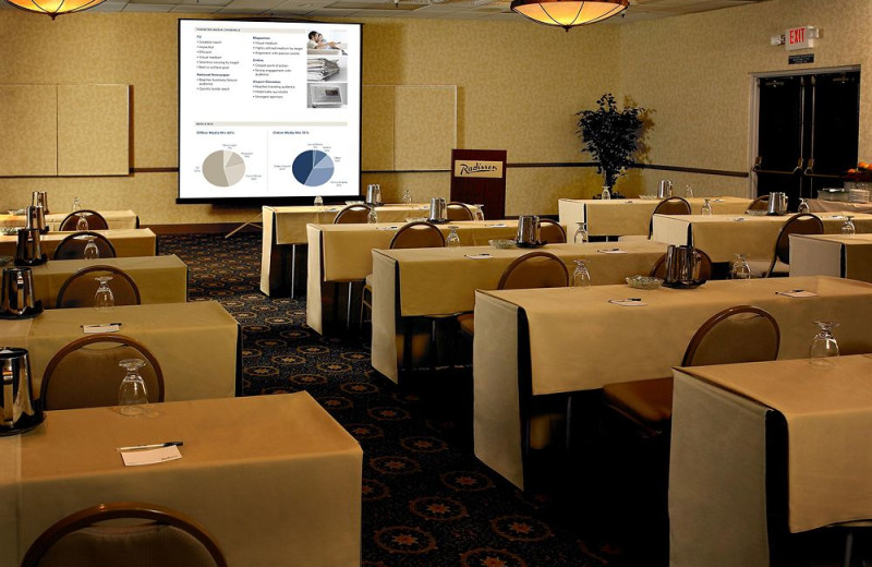 Conference room at Radisson Suites Hotel Buena Park.
