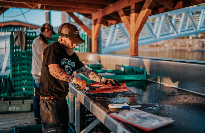 After you've been fishing at Salmon Falls Resort, our team will clean, filet and box up your fish to take home with you.
