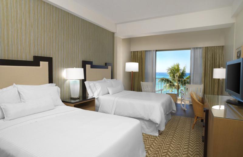 Guest room at Moana Surfrider, A Westin Resort & Spa, Waikiki Beach.