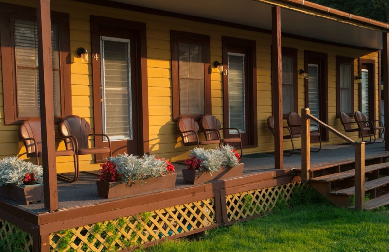 Motel exterior at Trout House Village Resort.
