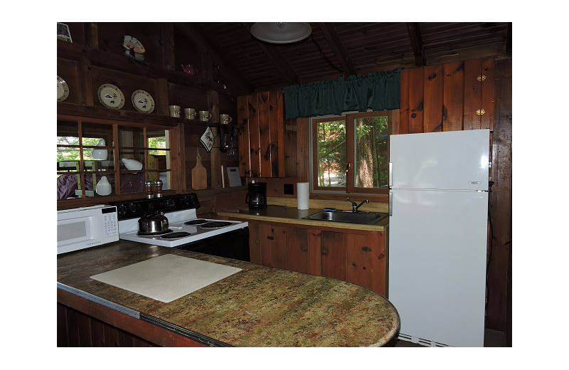 Rental kitchen at At the Lakes Vacation Rentals.