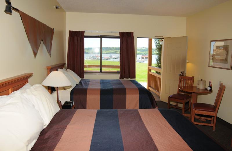 Guest room at Cedar Shore Resort.