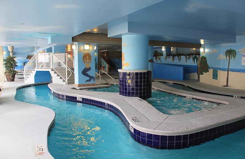 Indoor pool at Paradise Resort.