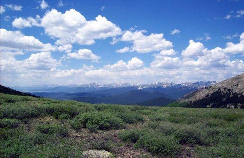 Beautiful view at Tumbling River Ranch.