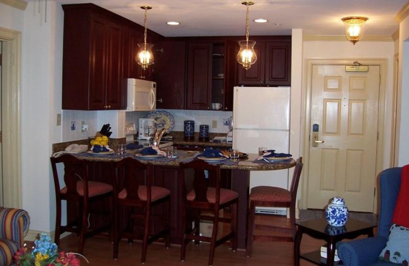 Villa kitchen at Westgate Williamsburg.