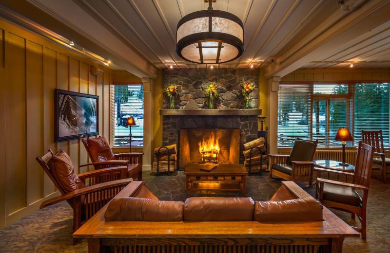 Lodge lobby at Sugar Bowl Resort.