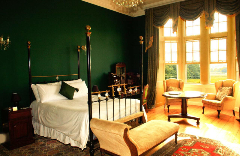 Guest room at Kinnitty Castle.