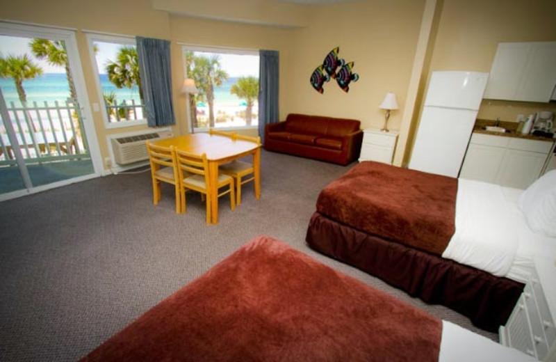 Guest room at Sandpiper Beacon Beach Resort.