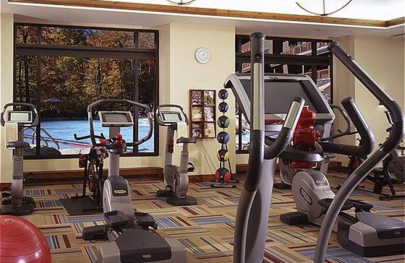 Fitness center at Stowe Mountain Lodge.