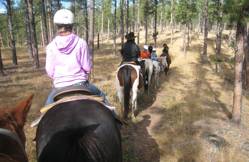 Trail riding at High Country Guest Ranch.