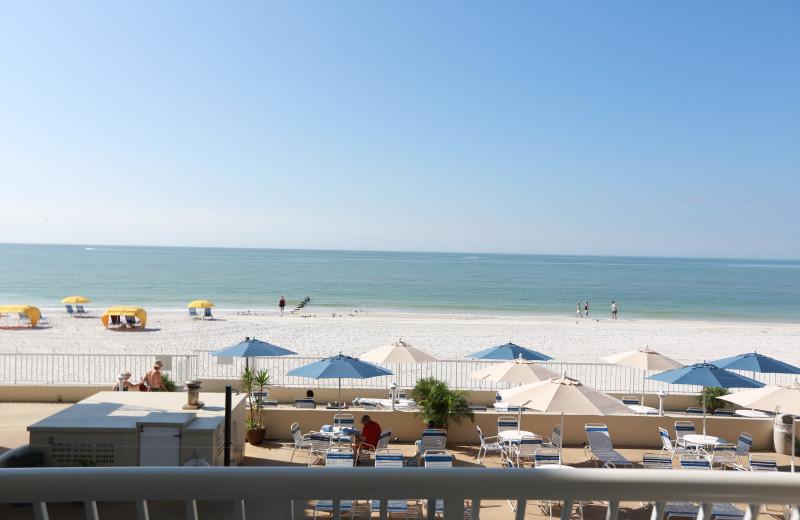 Beach view at Shoreline Island Resort.