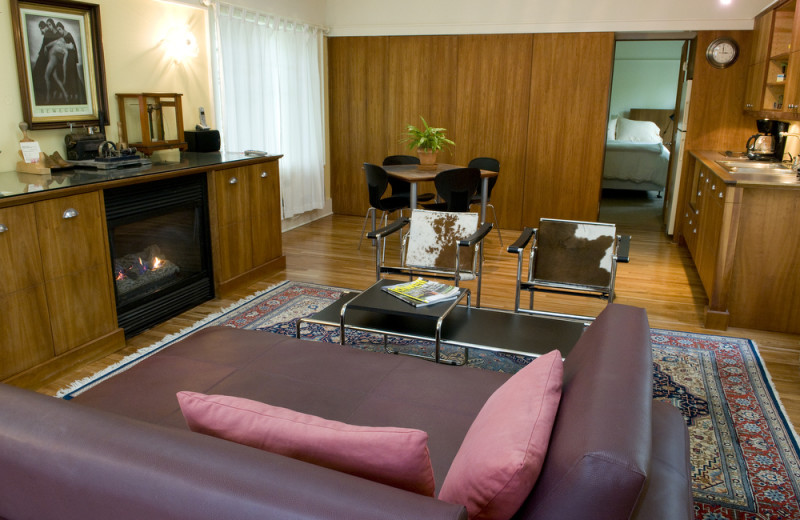 Guest living room at Inn On Columbia.