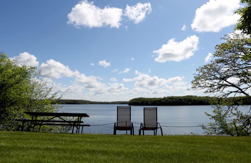 Lake view at Five Lakes Resort.