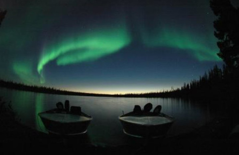 Aurora at Plummer's Arctic Fishing Lodges.