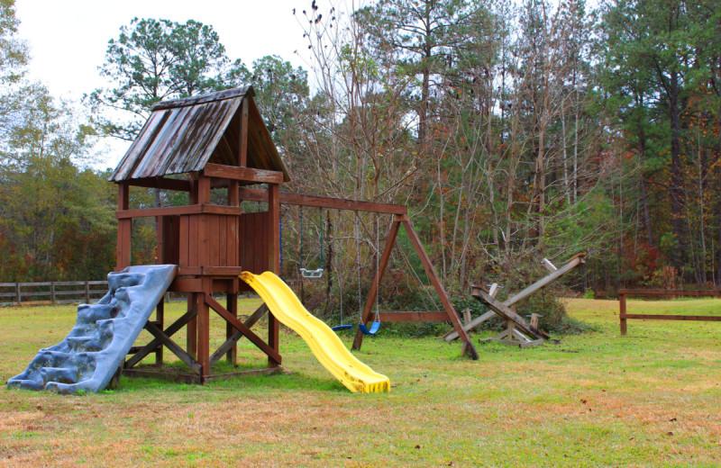 Playground at Berry Creek Cabins.