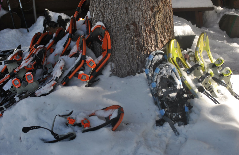 Snowshoeing at O-Bar-O Cabins.