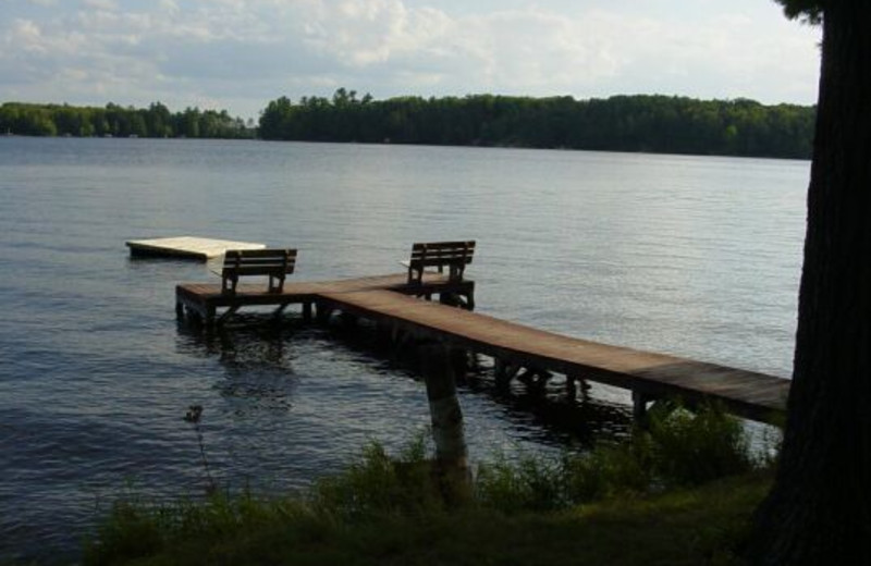 Lake view at Whispering Pines Resort.