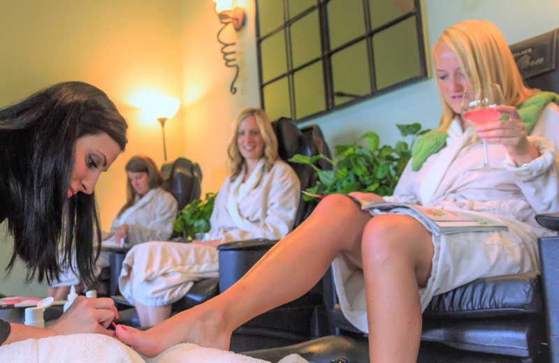 Pedicures at Madden's on Gull Lake.