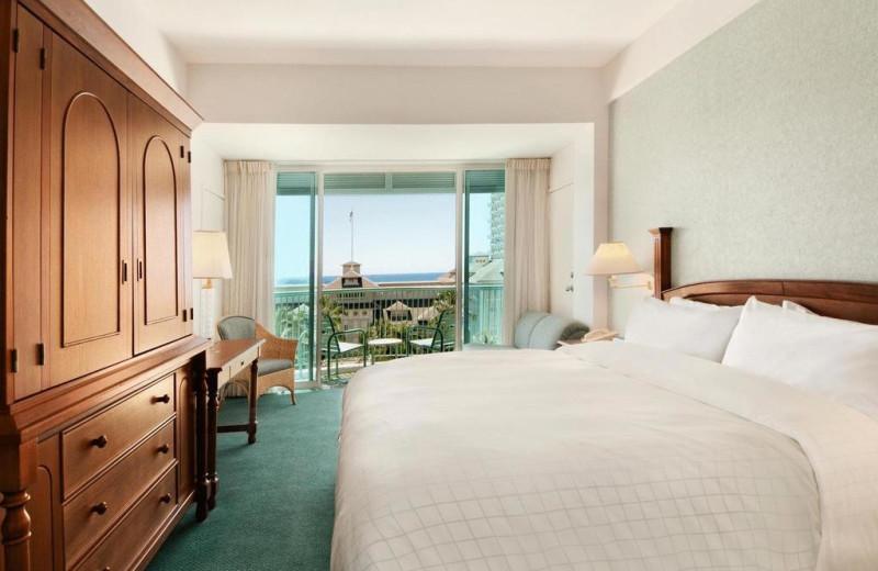 Guest room at Sheraton Princess Kaiulani Hotel.