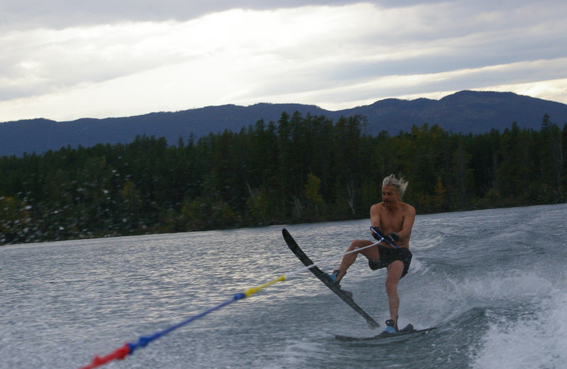 Water skiing at Lake Five Resort.
