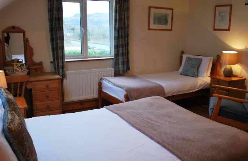 Guest room at The Foxford Lodge.