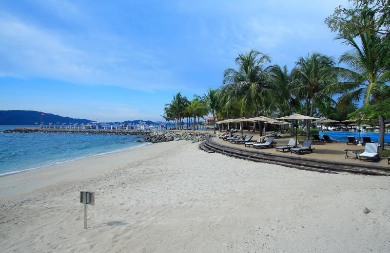 The beach at Sutera Harbour Resort.