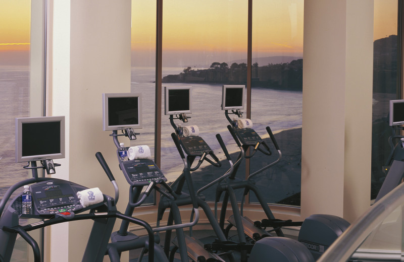 Fitness room at The Ritz-Carlton, Laguna Niguel.