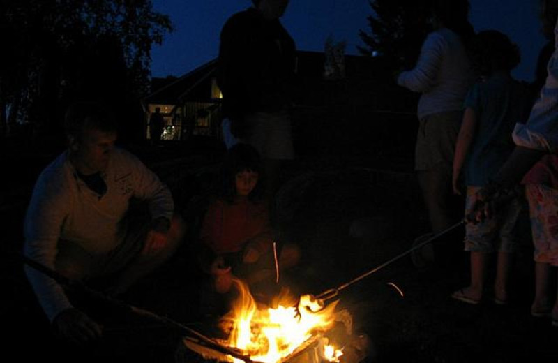 Campfires at Bald Mountain Camps Resort.