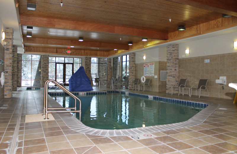 Indoor pool at Northernaire Resort.