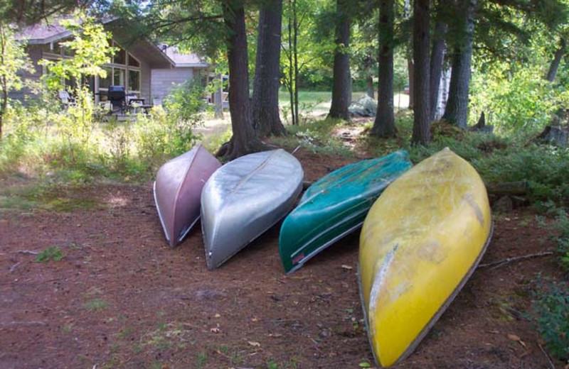 Canoes at Walker Lake Resort