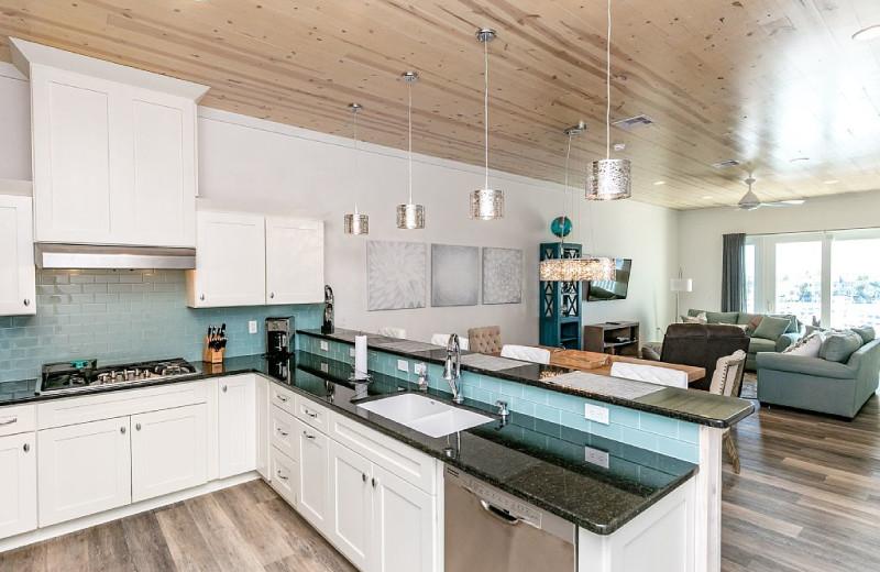 Rental kitchen living room at Silver Sands Realty.