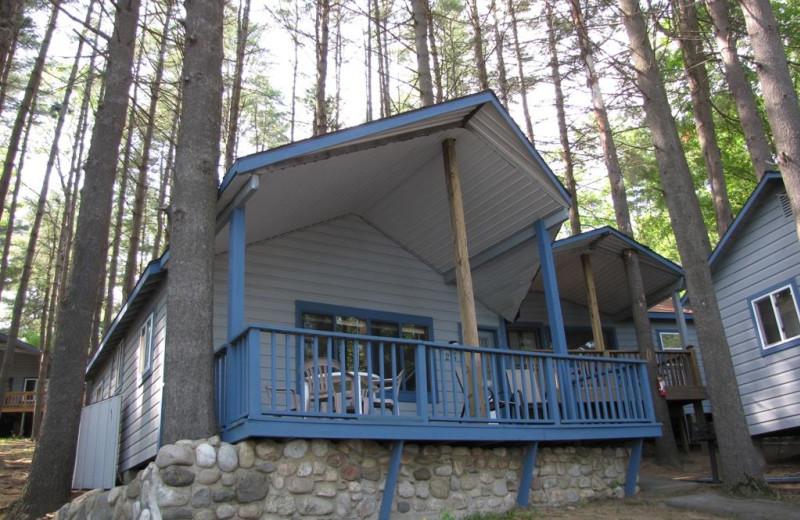 Cabin exterior at The Depe Dene Resort.