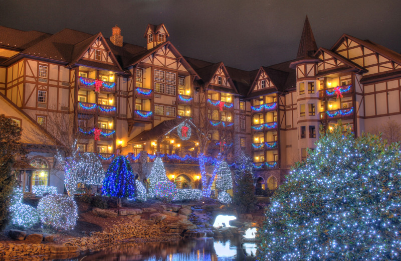 Exterior view of The Inn at Christmas Place.