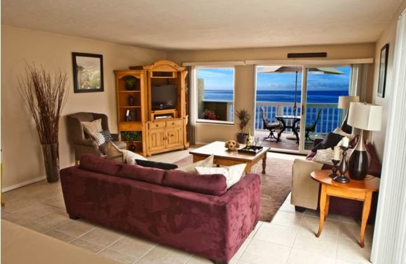 Guest living room at Beachwalk Villas Vacation.