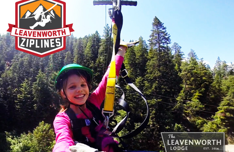Zip line at The Leavenworth Lodge.