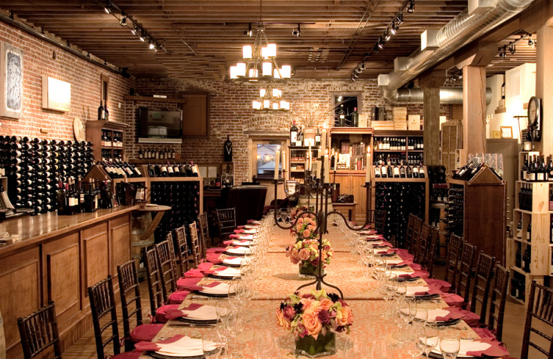 Wine room at Vintage Inn.
