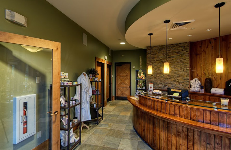 Spa lobby at Teton Springs Lodge.