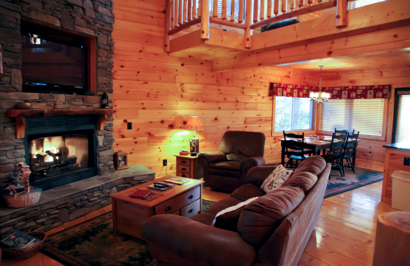 Cabin interior at Mountain Getaway Cabin Rentals.