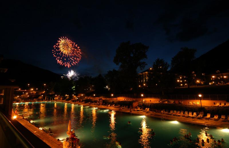 Fireworks at Glenwood Hot Springs.