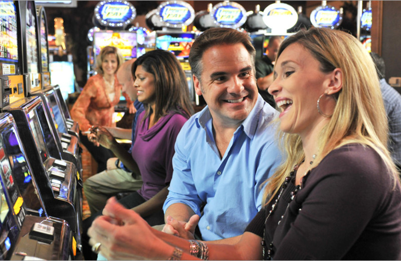 Couple Gambling at  Lakeside Hotel Casino